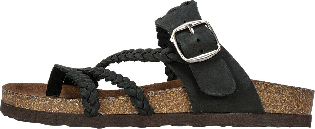 Women's White Mountain Hayleigh Toe Loop Sandal, Black Nubuck, large, image 3