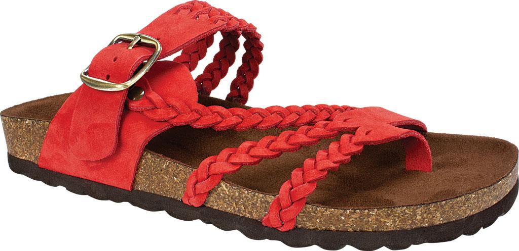 Women's White Mountain Hayleigh Toe Loop Sandal, Red Nubuck, large, image 1