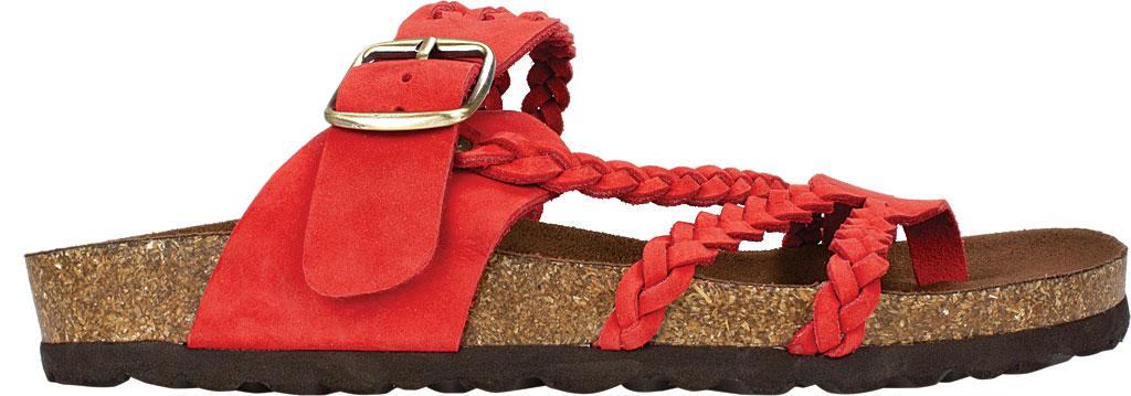 Women's White Mountain Hayleigh Toe Loop Sandal, Red Nubuck, large, image 2