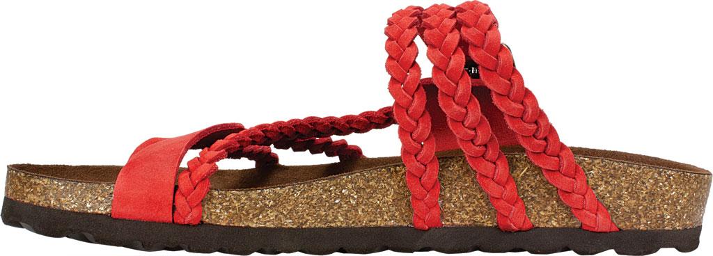 Women's White Mountain Hayleigh Toe Loop Sandal, Red Nubuck, large, image 3