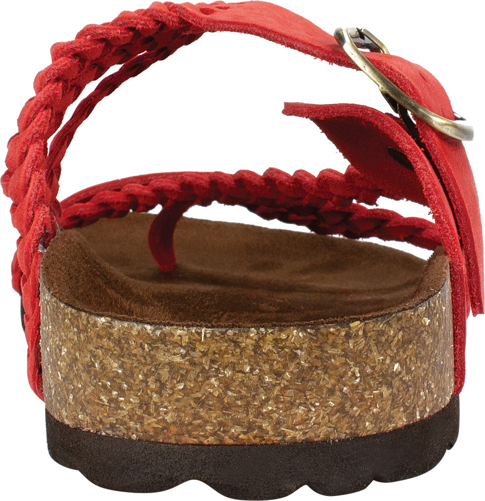 Women's White Mountain Hayleigh Toe Loop Sandal, Red Nubuck, large, image 4