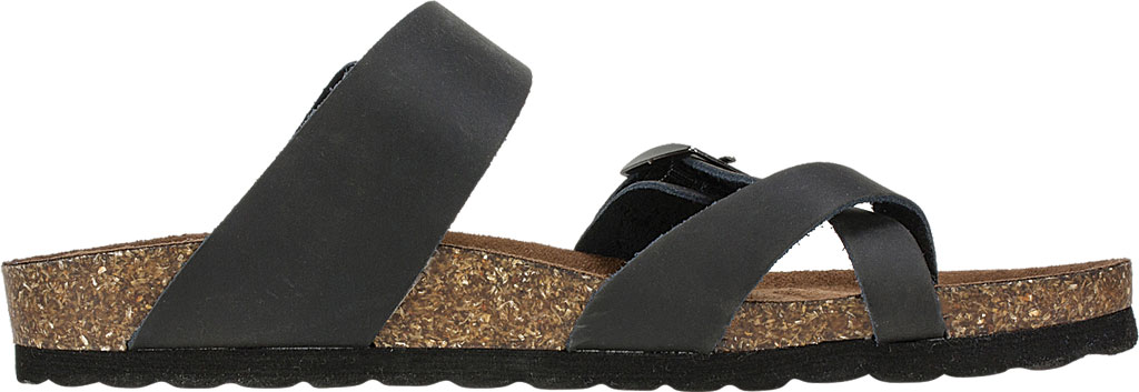 Women's White Mountain Gracie Toe Loop Sandal, Black Leather, large, image 2