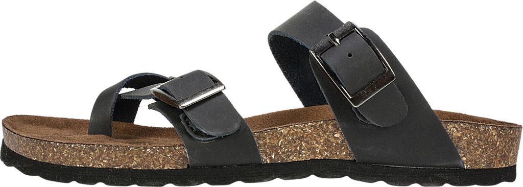 Women's White Mountain Gracie Toe Loop Sandal, Black Leather, large, image 3