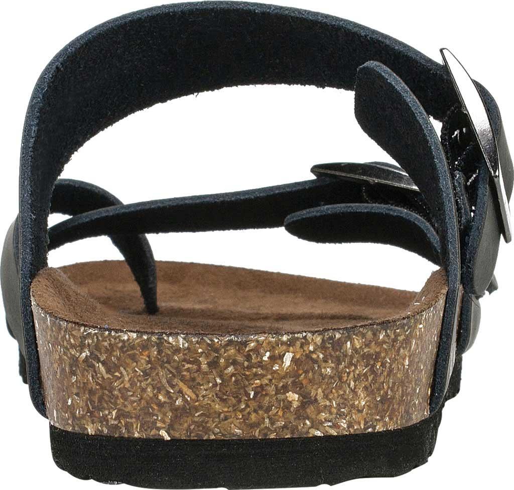 Women's White Mountain Gracie Toe Loop Sandal, Black Leather, large, image 4
