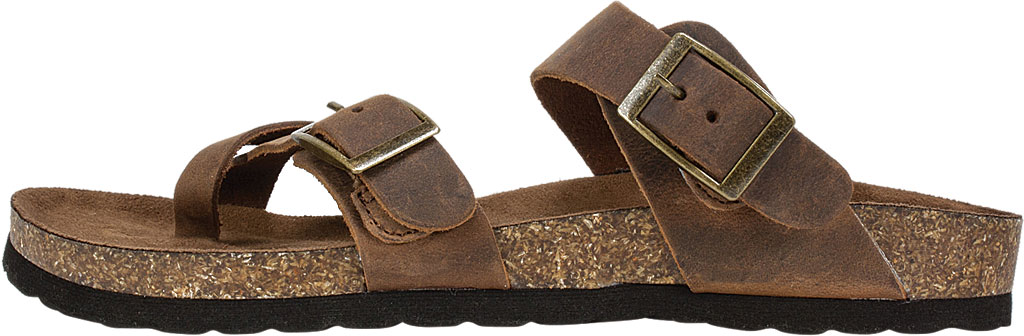 Women's White Mountain Gracie Toe Loop Sandal, Brown Leather, large, image 3
