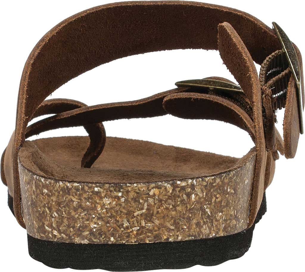 Women's White Mountain Gracie Toe Loop Sandal, Brown Leather, large, image 4