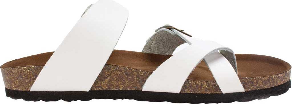 Women's White Mountain Gracie Toe Loop Sandal, White Leather, large, image 2