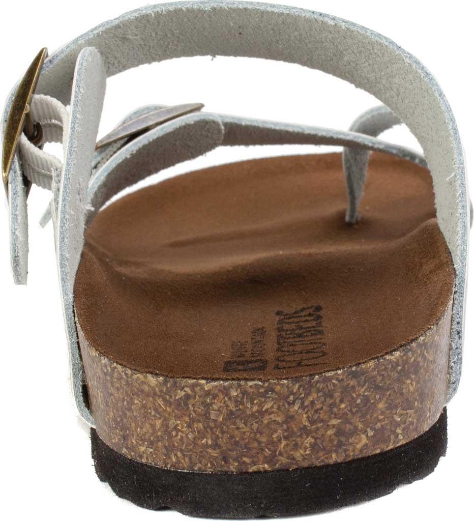 Women's White Mountain Gracie Toe Loop Sandal, White Leather, large, image 4