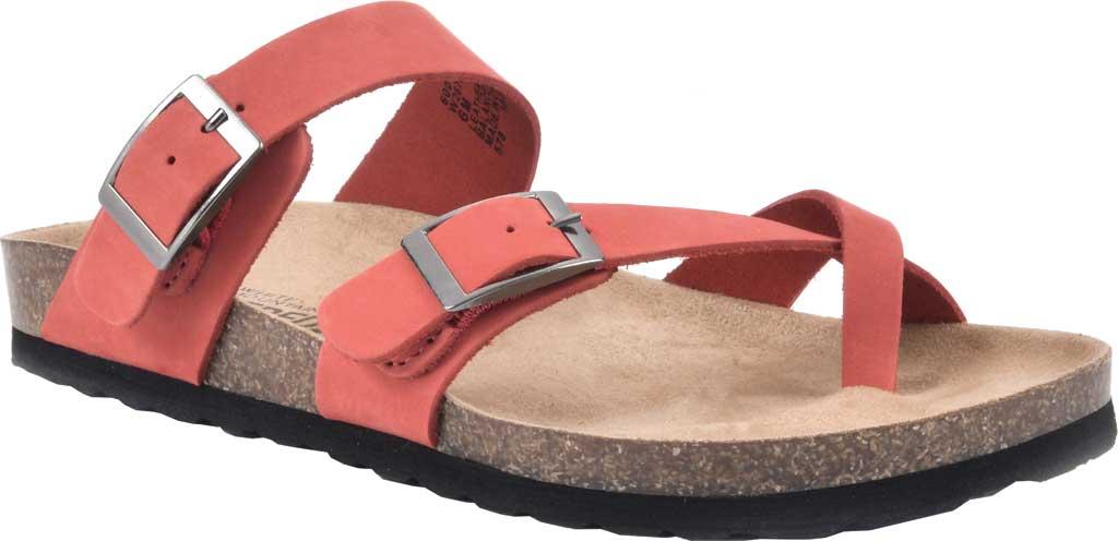 Women's White Mountain Gracie Toe Loop Sandal, Red Nubuck, large, image 1