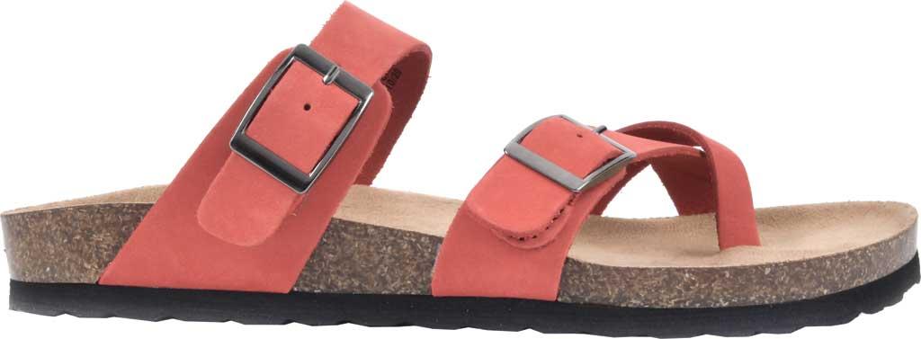 Women's White Mountain Gracie Toe Loop Sandal, Red Nubuck, large, image 2