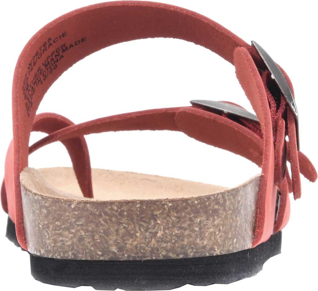 Women's White Mountain Gracie Toe Loop Sandal, Red Nubuck, large, image 4