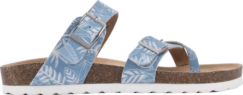 Women's White Mountain Gracie Toe Loop Sandal, Light Blue Tropical Print Leather, large, image 2