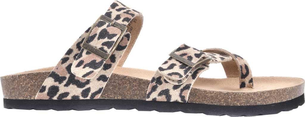 Women's White Mountain Gracie Toe Loop Sandal, Natural/Leopard Print Suede, large, image 2