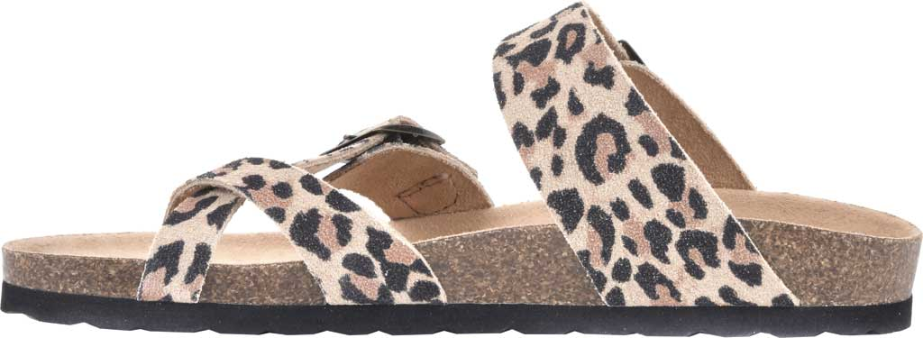 Women's White Mountain Gracie Toe Loop Sandal, Natural/Leopard Print Suede, large, image 3