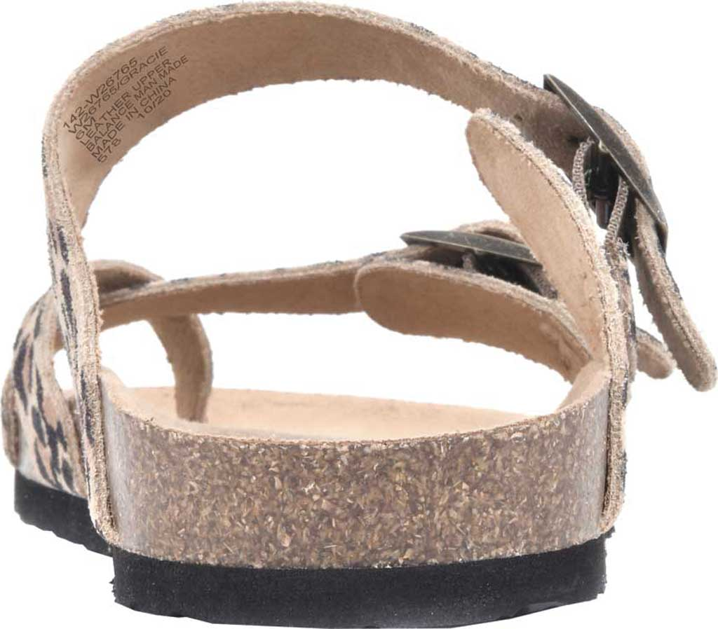 Women's White Mountain Gracie Toe Loop Sandal, Natural/Leopard Print Suede, large, image 4