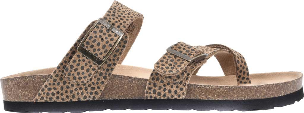 Women's White Mountain Gracie Toe Loop Sandal, Tan Mini Cheetah Print Suede, large, image 2