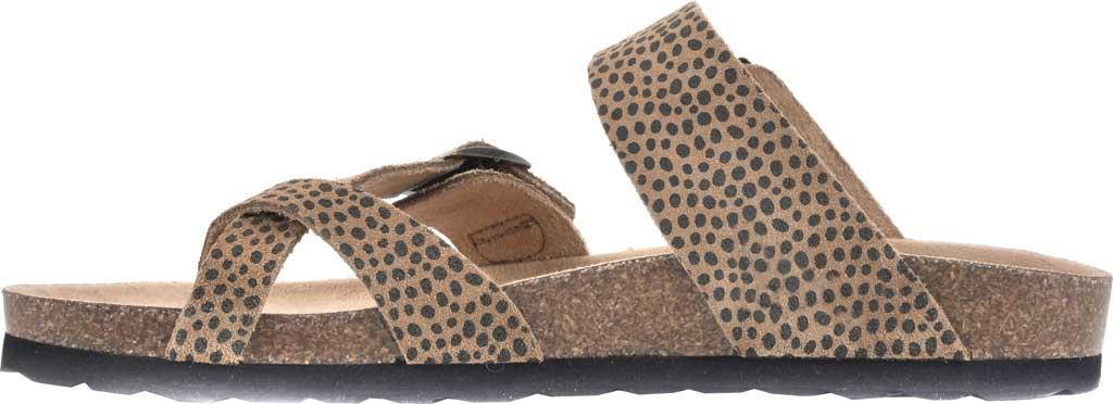 Women's White Mountain Gracie Toe Loop Sandal, Tan Mini Cheetah Print Suede, large, image 3