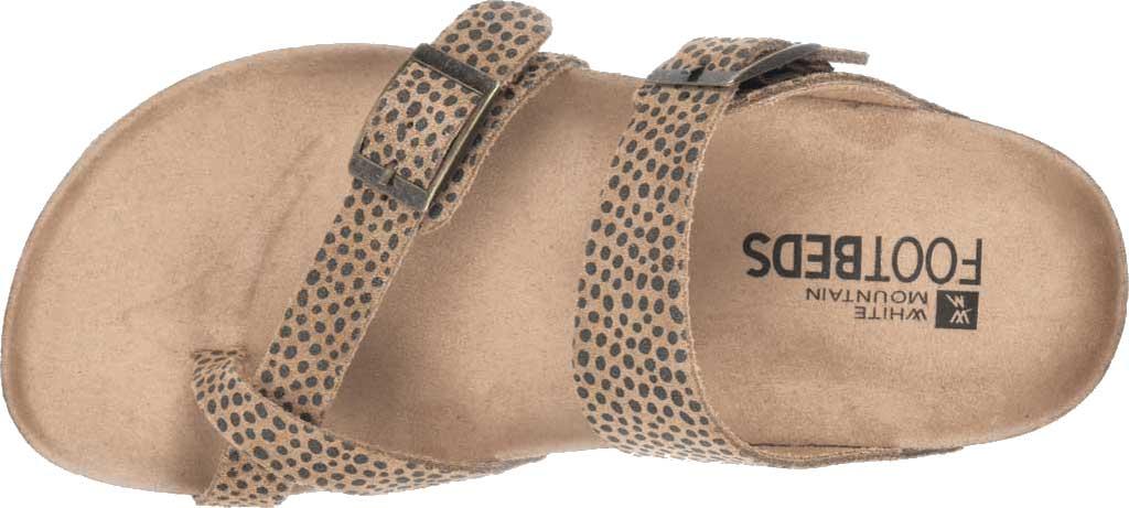 Women's White Mountain Gracie Toe Loop Sandal, Tan Mini Cheetah Print Suede, large, image 5