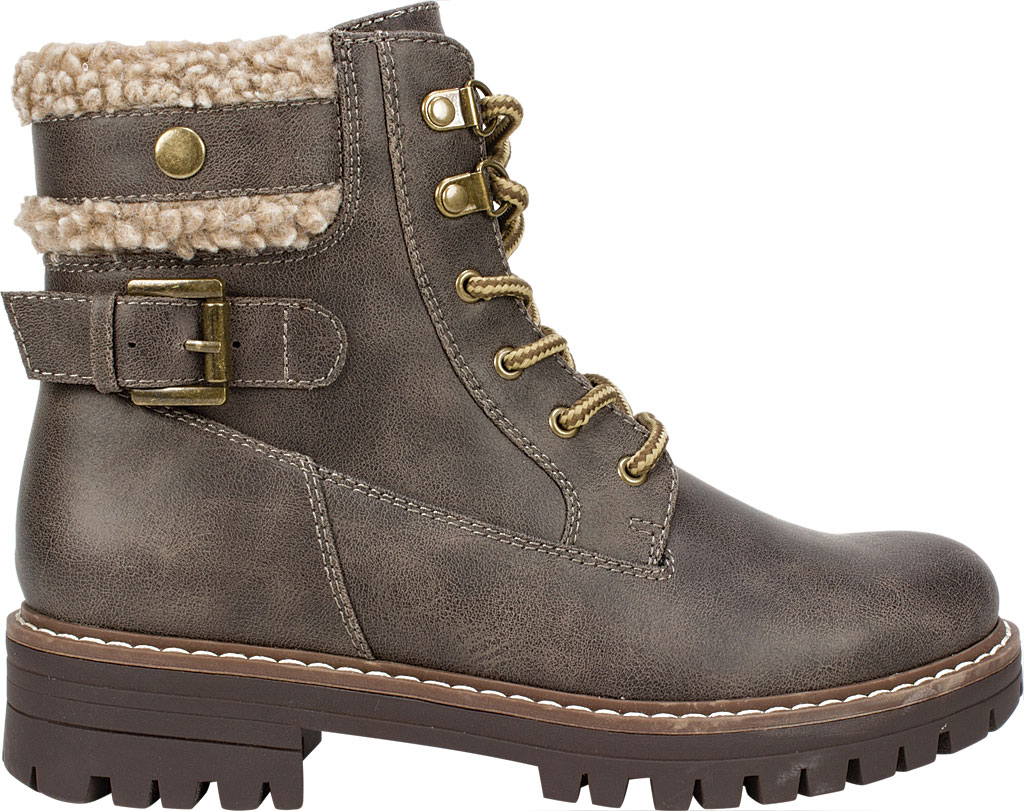 Women's Cliffs by White Mountain Meldon Lace Up Ankle Boot, Stone Fabric, large, image 2