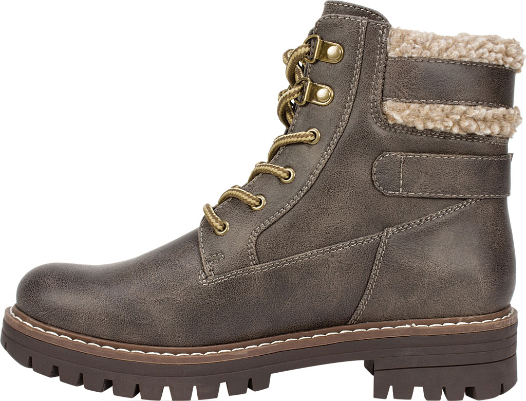 Women's Cliffs by White Mountain Meldon Lace Up Ankle Boot, Stone Fabric, large, image 3