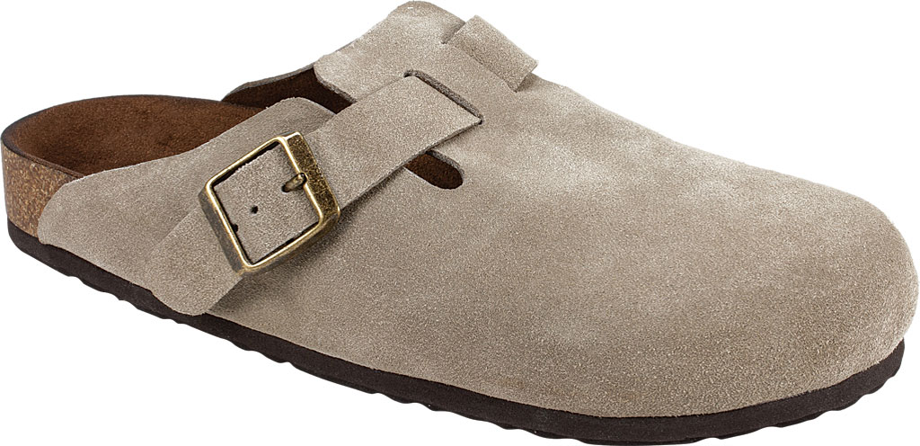 Women's White Mountain Bari Buckle Clog, Taupe Suede, large, image 1