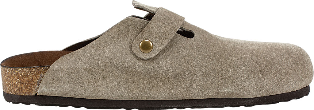 Women's White Mountain Bari Buckle Clog, Taupe Suede, large, image 2