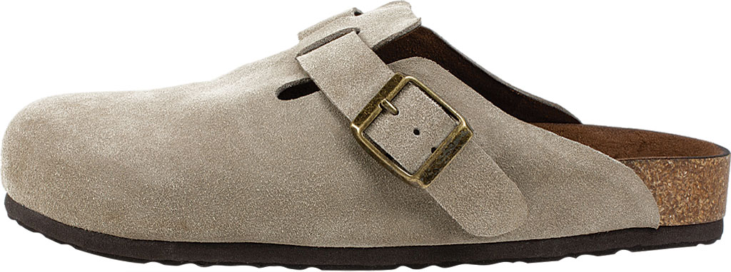 Women's White Mountain Bari Buckle Clog, Taupe Suede, large, image 3