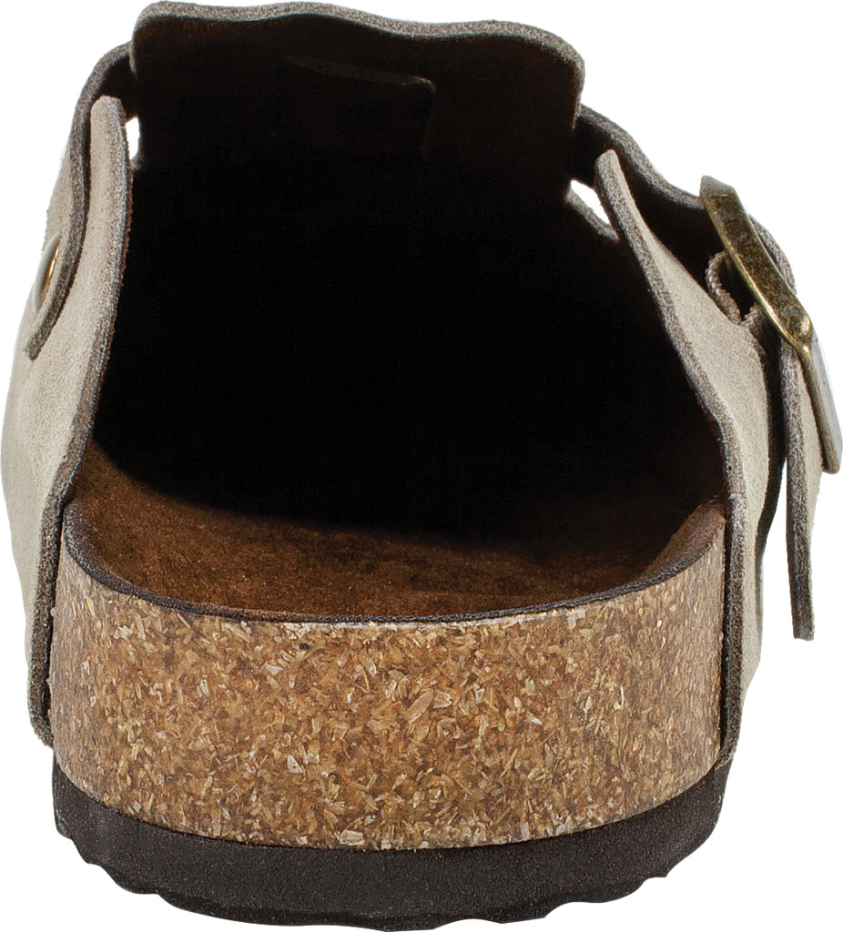Women's White Mountain Bari Buckle Clog, Taupe Suede, large, image 4
