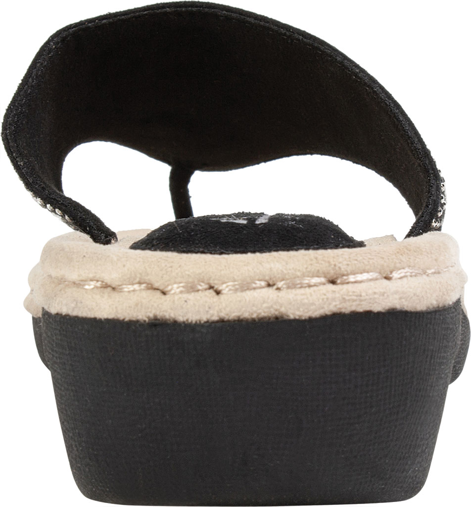 Women's Cliffs by White Mountain Cienna Thong Sandal, Black Fabric, large, image 4