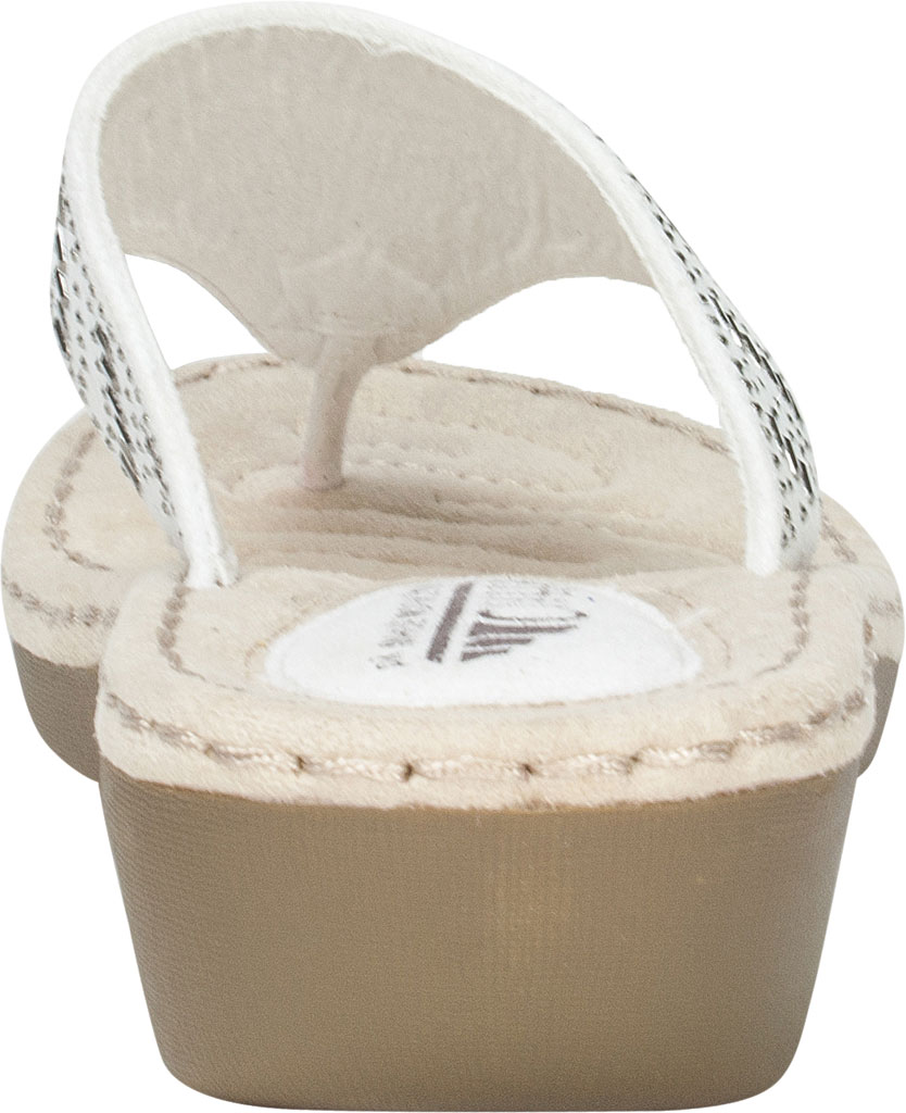 Women's Cliffs by White Mountain Cienna Thong Sandal, White Fabric, large, image 4