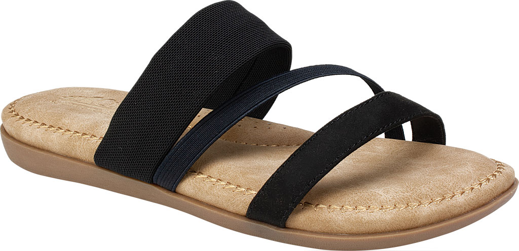 Women's Cliffs by White Mountain Farris Slide, Black Microsuede Fabric, large, image 1