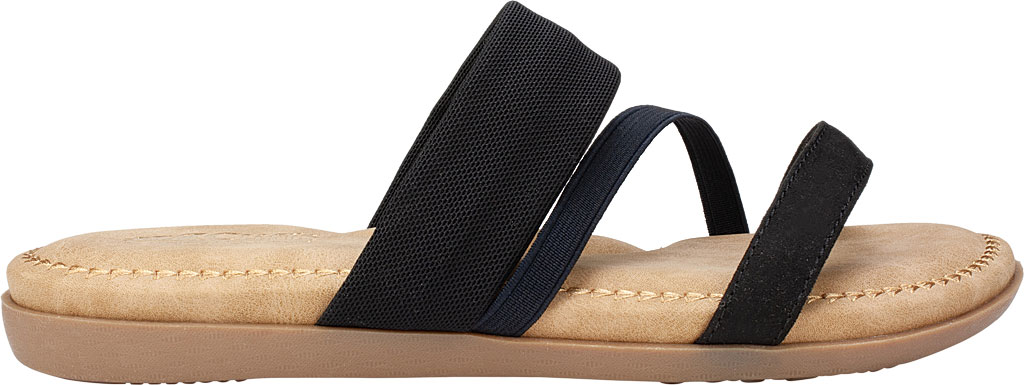 Women's Cliffs by White Mountain Farris Slide, Black Microsuede Fabric, large, image 2