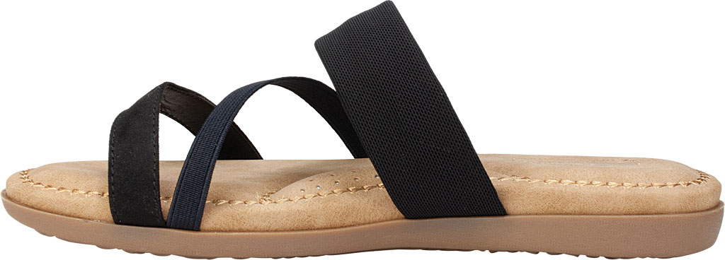 Women's Cliffs by White Mountain Farris Slide, Black Microsuede Fabric, large, image 3