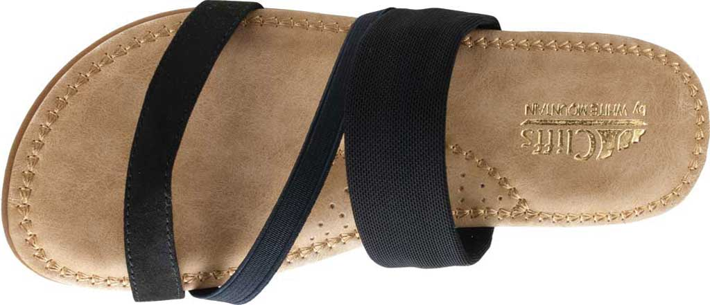 Women's Cliffs by White Mountain Farris Slide, Black Microsuede Fabric, large, image 5