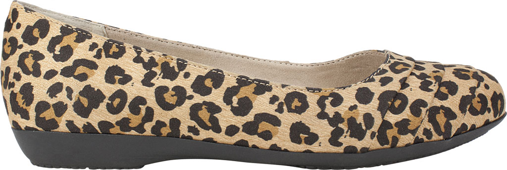 Women's Cliffs by White Mountain Clara Flat, Tan/Leopard Textile, large, image 2