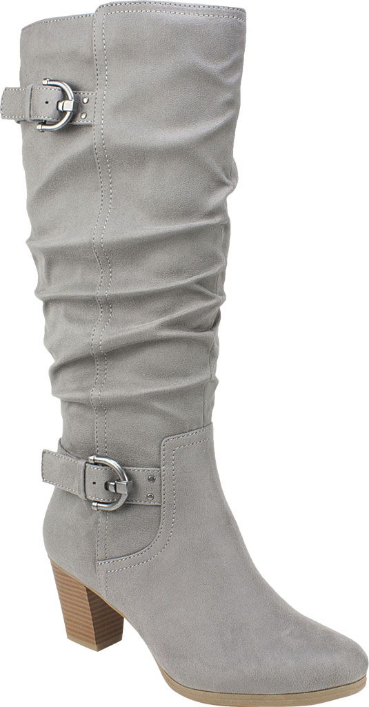 Women's Rialto Farewell Tall Boot, Light Grey Suedette Fabric, large, image 1