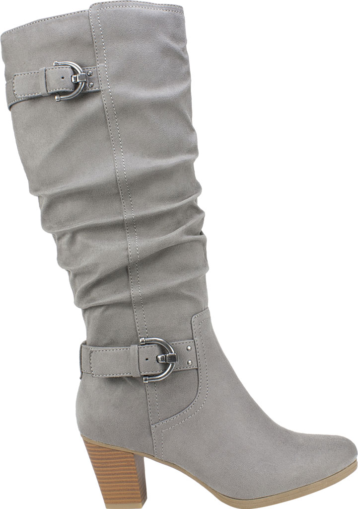 Women's Rialto Farewell Tall Boot, Light Grey Suedette Fabric, large, image 2