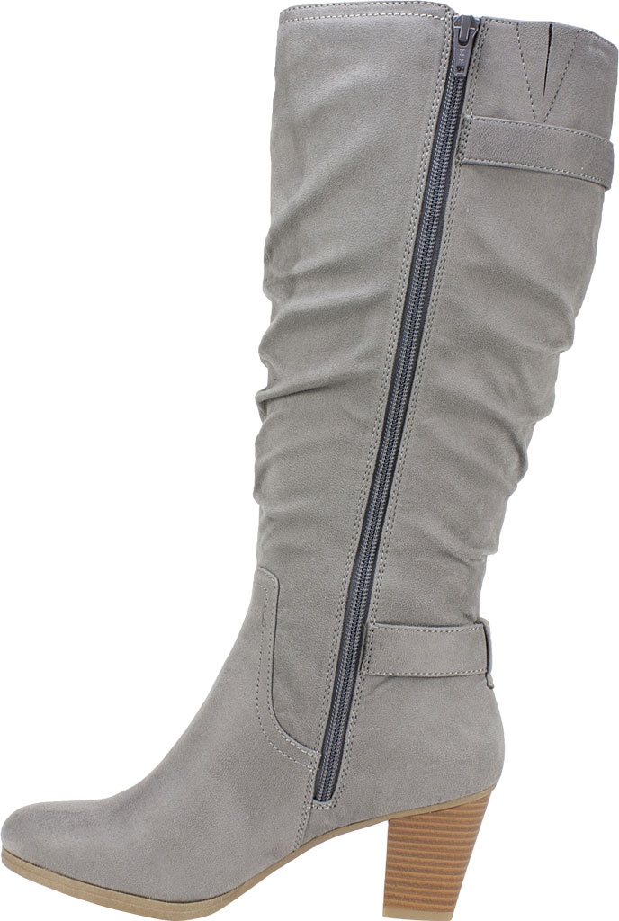 Women's Rialto Farewell Tall Boot, Light Grey Suedette Fabric, large, image 3
