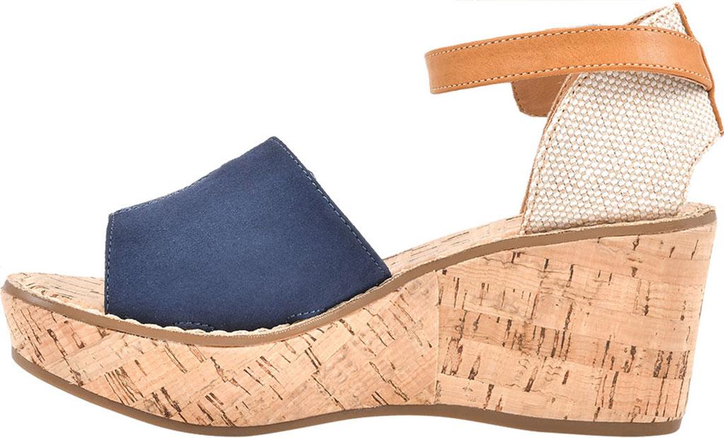 Women's White Mountain Sarabella Wedge Sandal, Navy Microsuede Fabric, large, image 3