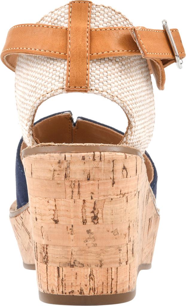 Women's White Mountain Sarabella Wedge Sandal, Navy Microsuede Fabric, large, image 4