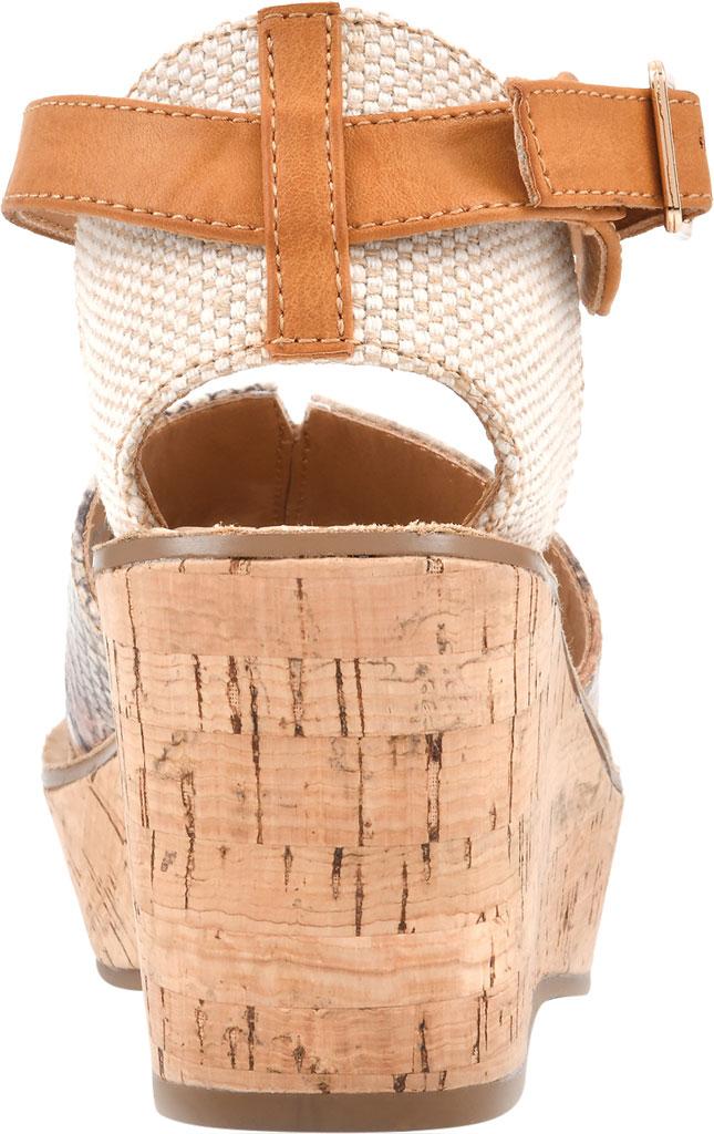 Women's White Mountain Sarabella Wedge Sandal, Natural Snake Fabric, large, image 4