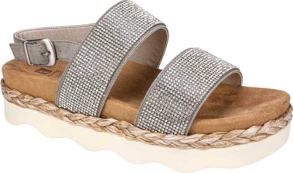 Women's White Mountain Austin Platform Sandal, Grey Microsuede Fabric, large, image 1
