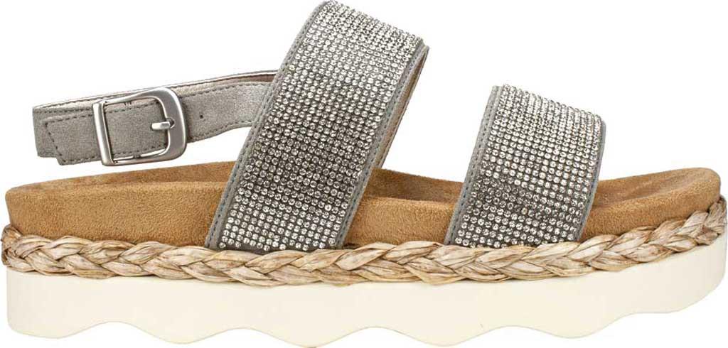 Women's White Mountain Austin Platform Sandal, Grey Microsuede Fabric, large, image 2