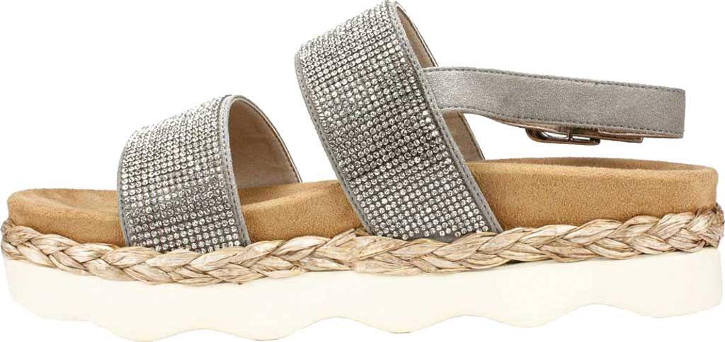 Women's White Mountain Austin Platform Sandal, Grey Microsuede Fabric, large, image 3