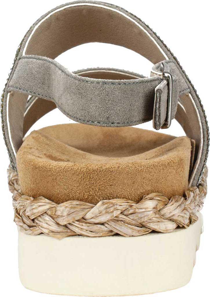 Women's White Mountain Austin Platform Sandal, Grey Microsuede Fabric, large, image 4
