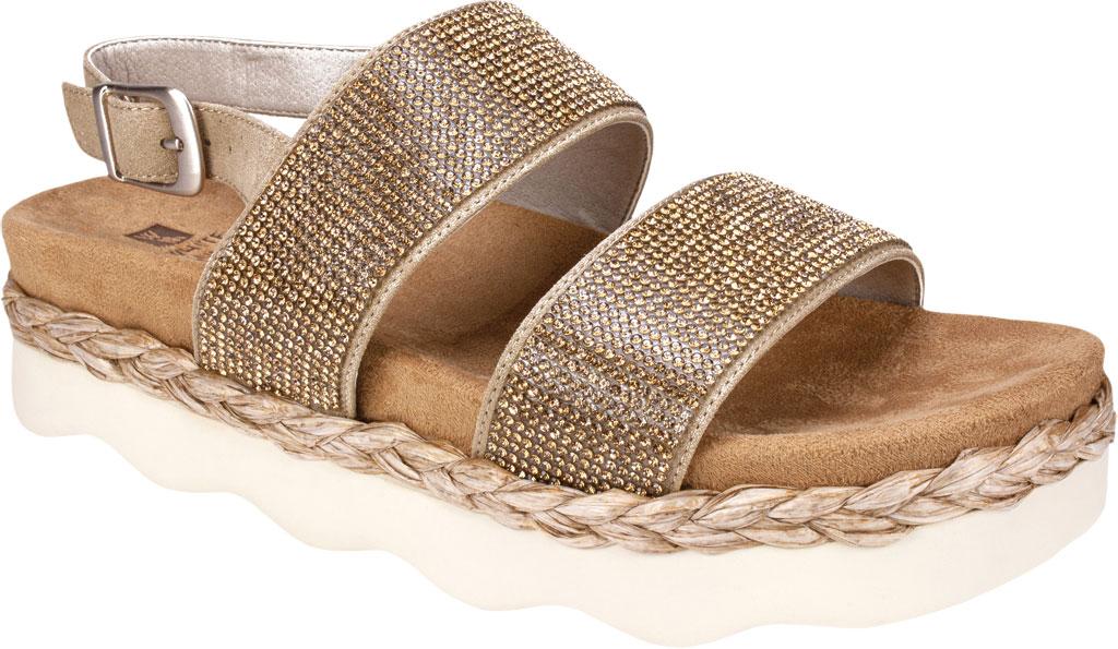 Women's White Mountain Austin Platform Sandal, Sand Microsuede Fabric, large, image 1