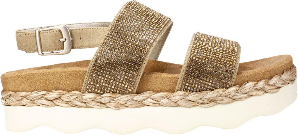 Women's White Mountain Austin Platform Sandal, Sand Microsuede Fabric, large, image 2