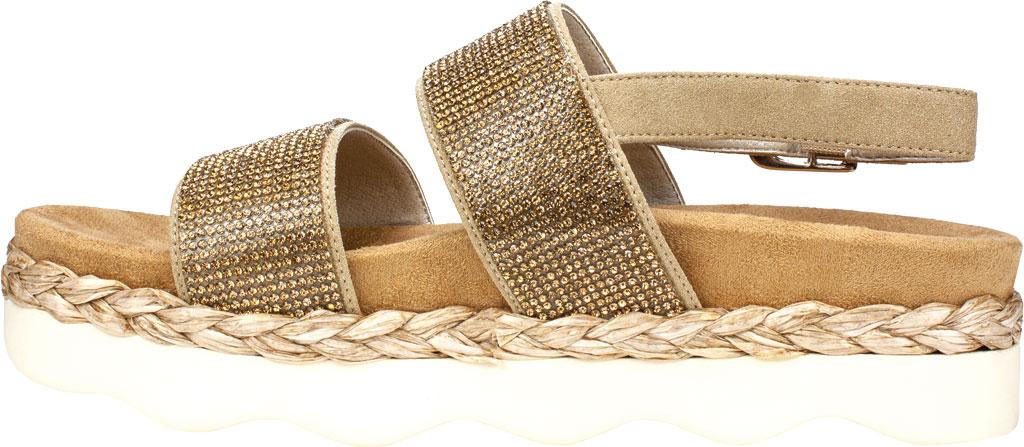 Women's White Mountain Austin Platform Sandal, Sand Microsuede Fabric, large, image 3