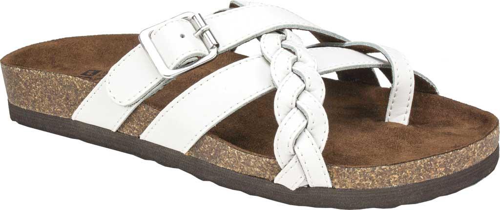 Women's White Mountain Harrington Slide, White Leather, large, image 1