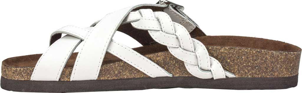 Women's White Mountain Harrington Slide, White Leather, large, image 3